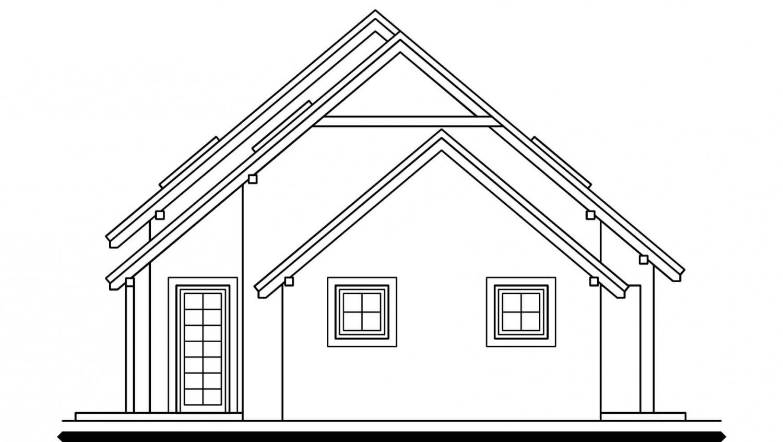 Pohľad 2. - Dom s garážou vhodný aj ako dvojdom.
