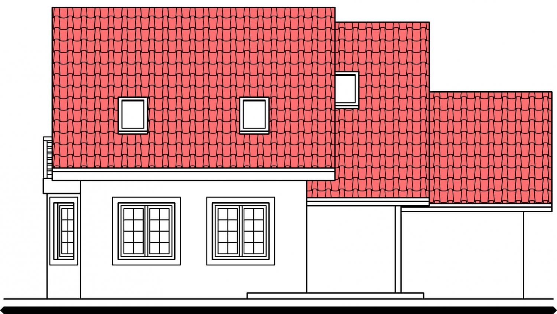 Pohľad 3. - Dom s garážou vhodný aj ako dvojdom.