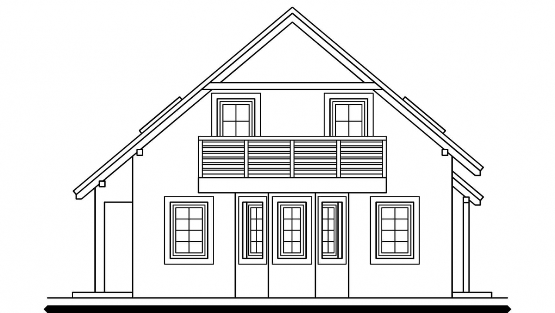 Pohľad 4. - Dom s garážou vhodný aj ako dvojdom.
