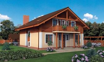 Klasický projekt 6-izbového rodinného domu s izbou aj na prízemí.