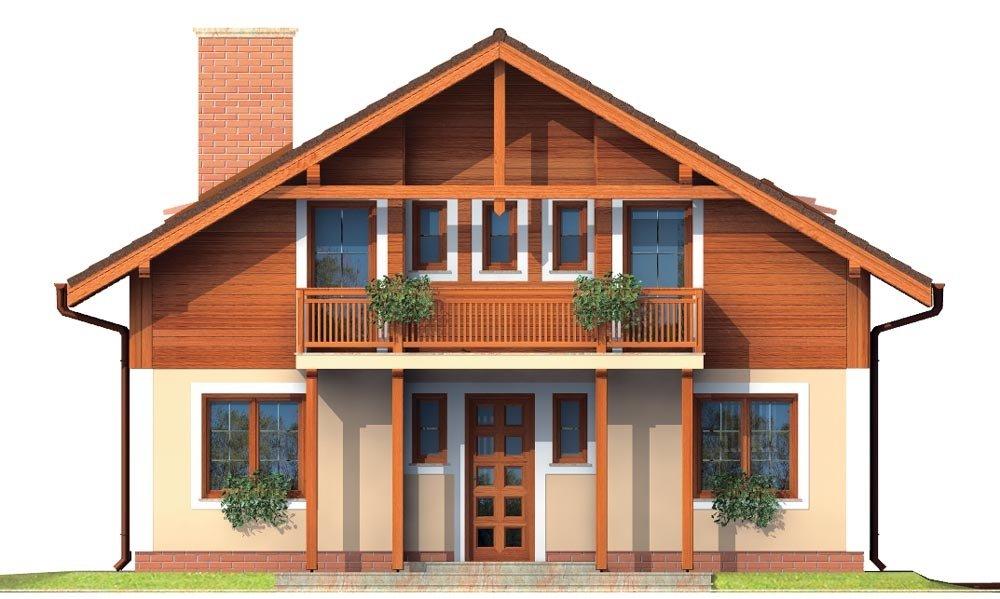 Pohľad 1. - Klasický projekt rodinného domu