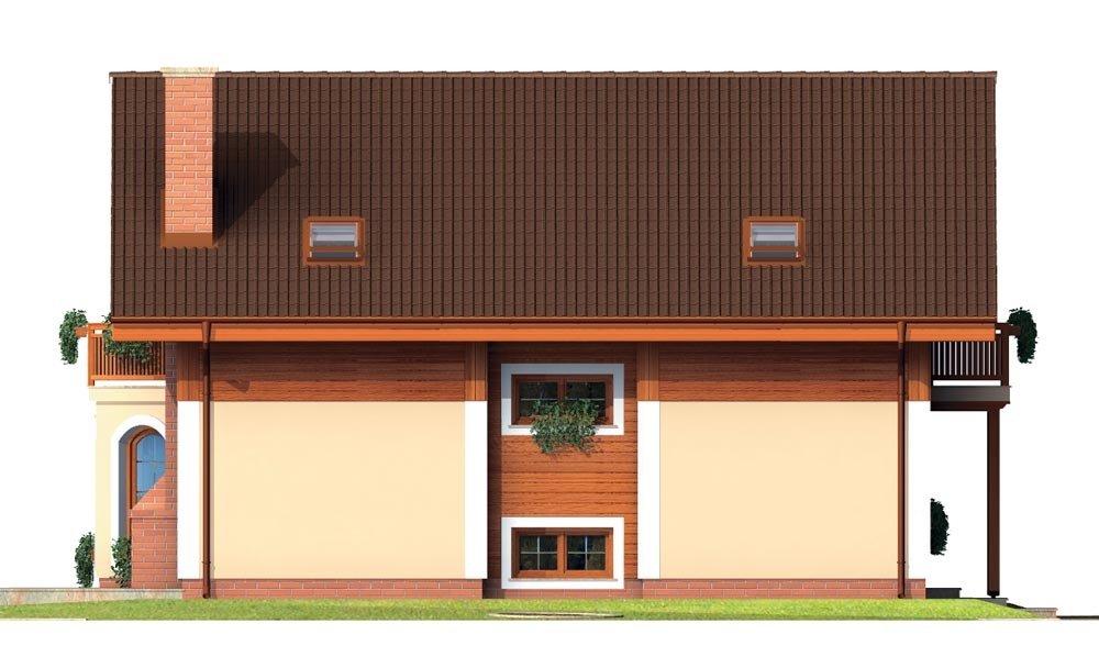 Pohľad 2. - Klasický projekt rodinného domu