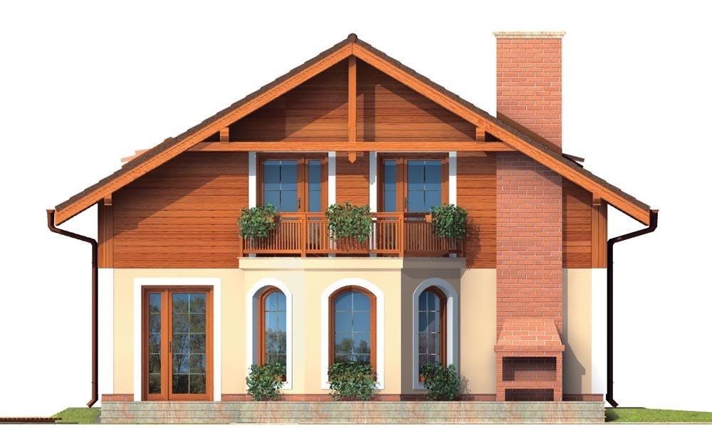 Pohľad 3. - Klasický projekt rodinného domu