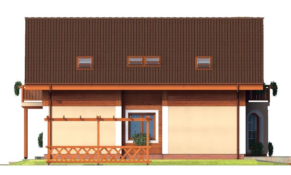 Pohľad 4. - Klasický projekt rodinného domu