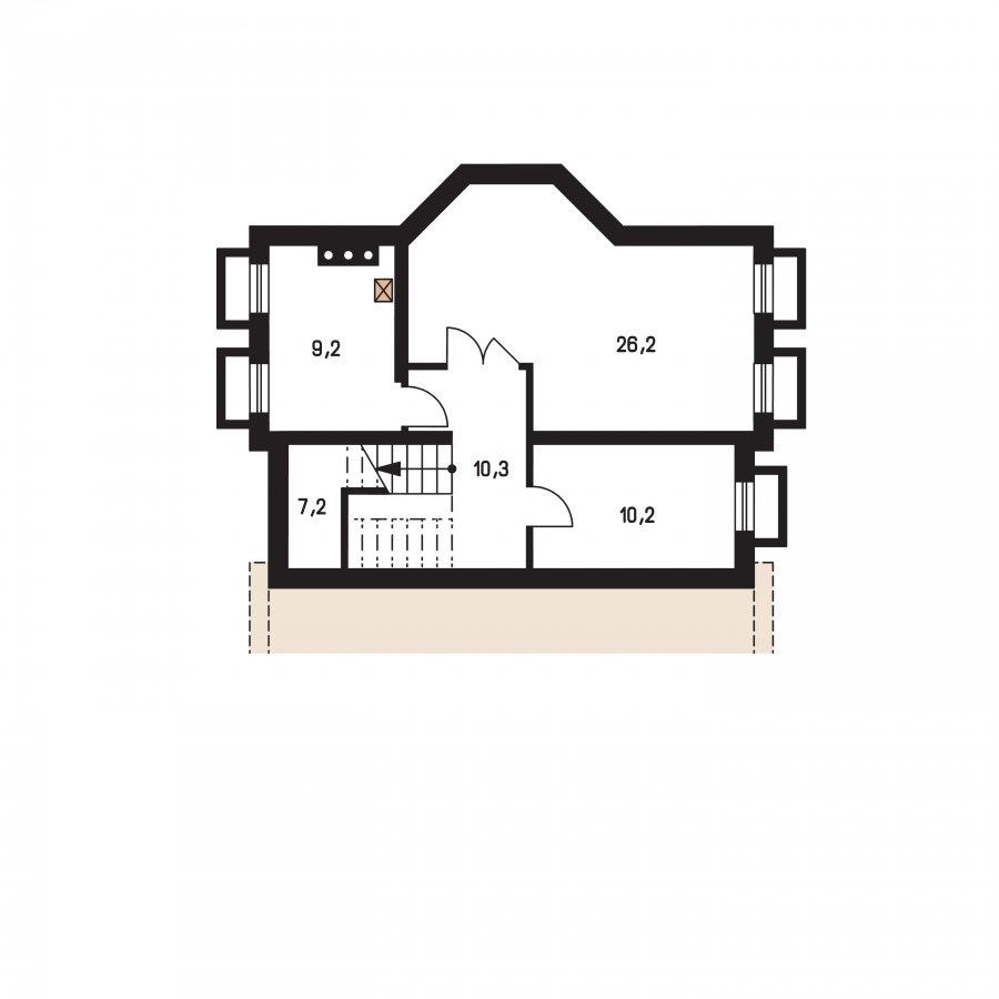 Pôdorys Suterénu - Klasický projekt rodinného domu