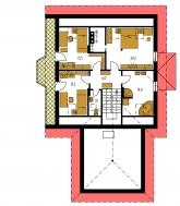 Pôdorys poschodia - KLASSIK 135