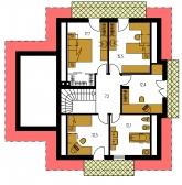 Pôdorys poschodia - KLASSIK 138