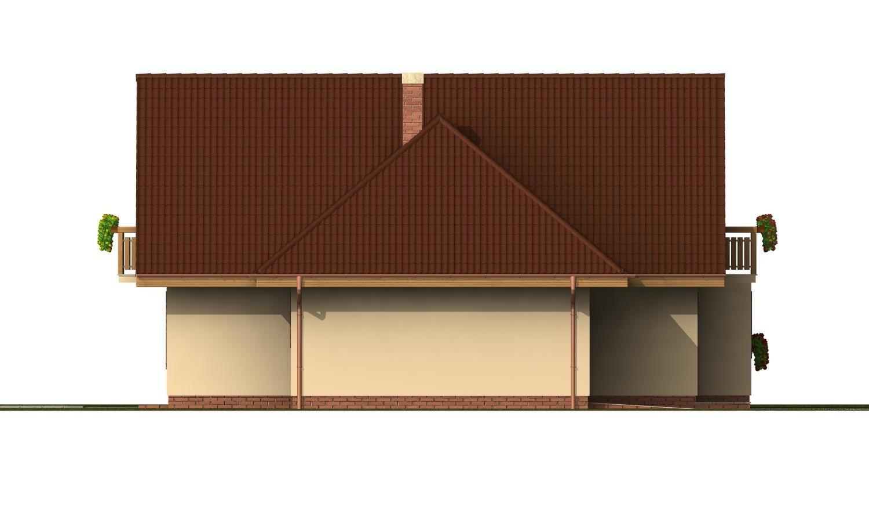 Pohľad 2. - Projekt rodinného domu s veľkým suterénom, podkrovým a izbou na prízemí.