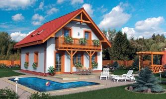 Podkrovný rodinný dom vhodný aj ako chata.