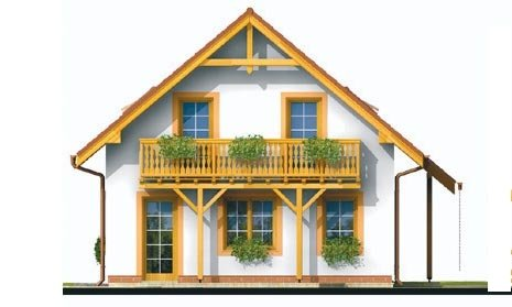 Pohľad 2. - Podkrovný rodinný dom