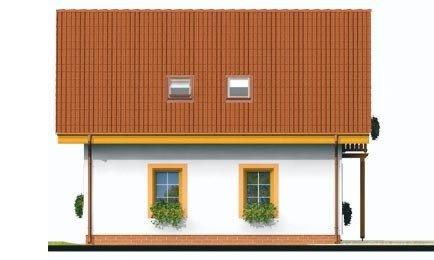 Pohľad 3. - Podkrovný rodinný dom