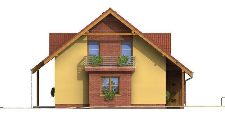 Pohľad 4. - Malý 5-izbový dom s garážou.