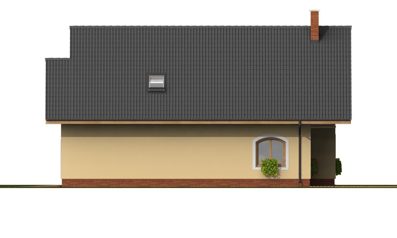 Pohľad 4. - Dom s garážou na úzky pozemok.