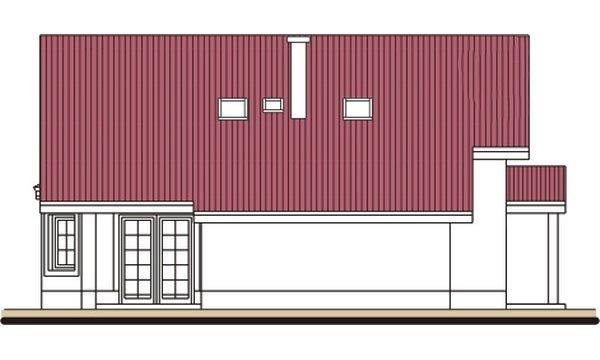 Pohľad 2. - Podkrovný dom s apsidou a garážou