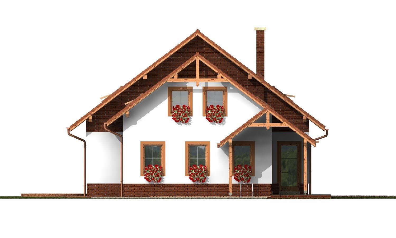 Pohľad 1. - Klasický rodinný dom s izbou na prízemí