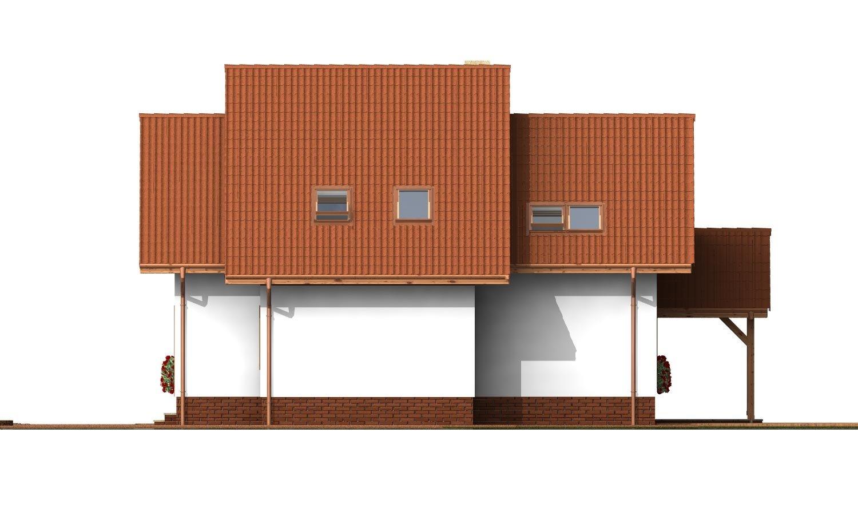 Pohľad 2. - Klasický rodinný dom s izbou na prízemí.
