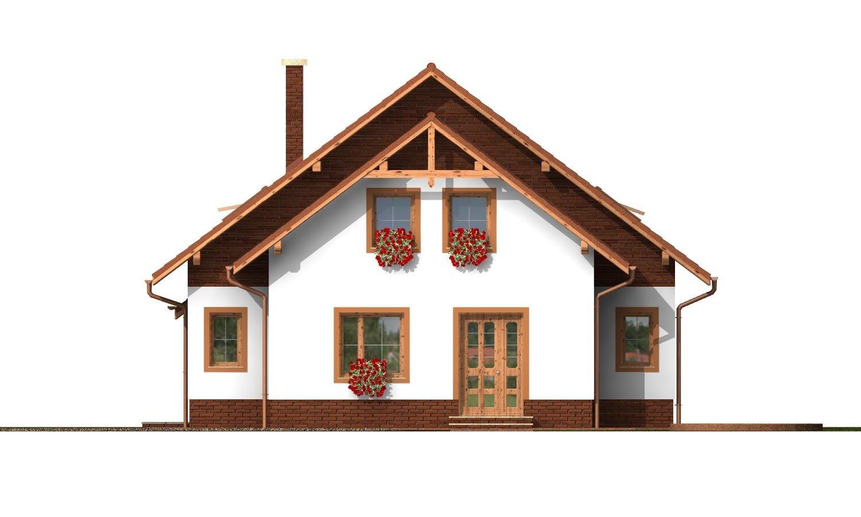 Pohľad 3. - Klasický rodinný dom s izbou na prízemí