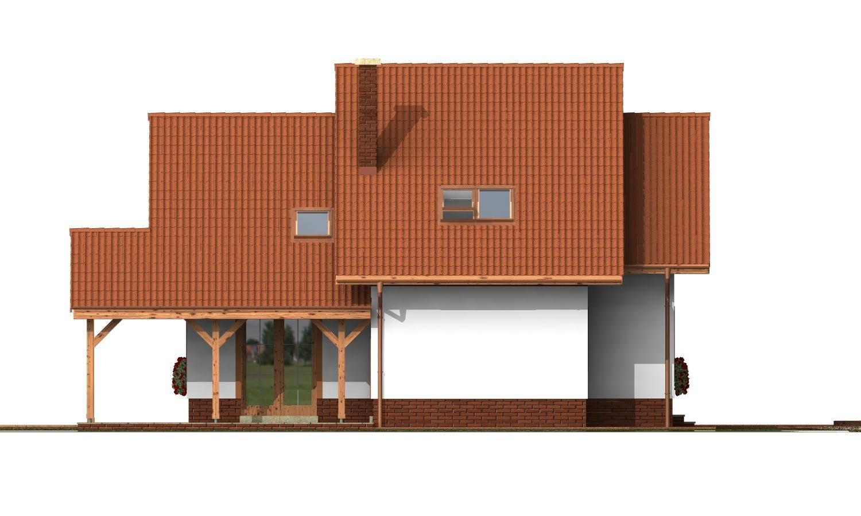 Pohľad 4. - Klasický rodinný dom s izbou na prízemí