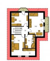 Pôdorys poschodia - KLASSIK 152