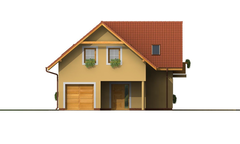 Pohľad 1. - Dom s garážou a obytným podkrovím