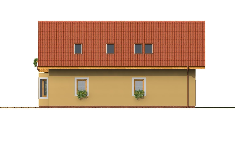 Pohľad 2. - Dom s garážou a obytným podkrovím