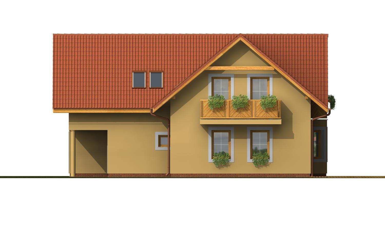 Pohľad 4. - Dom s garážou a obytným podkrovím
