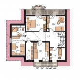 Pôdorys poschodia - KLASSIK 154