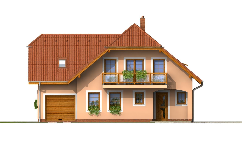 Pohľad 1. - Veľký exkluzívny podkrovný rodinný dom s izbami na prízemí.