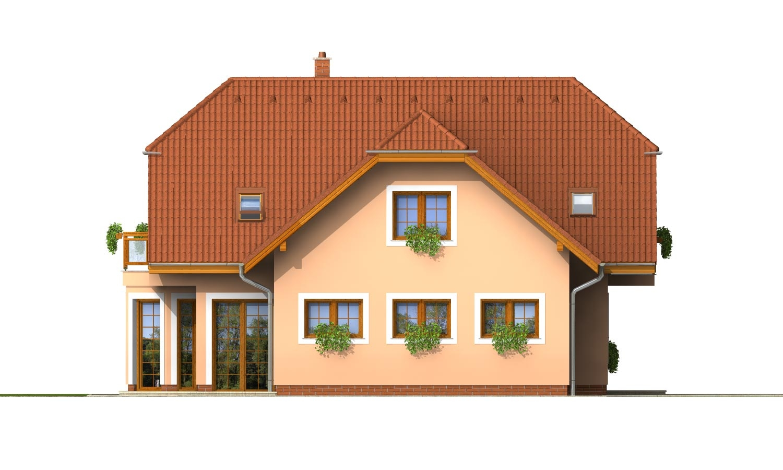 Pohľad 2. - Veľký exkluzívny podkrovný rodinný dom s izbami na prízemí.