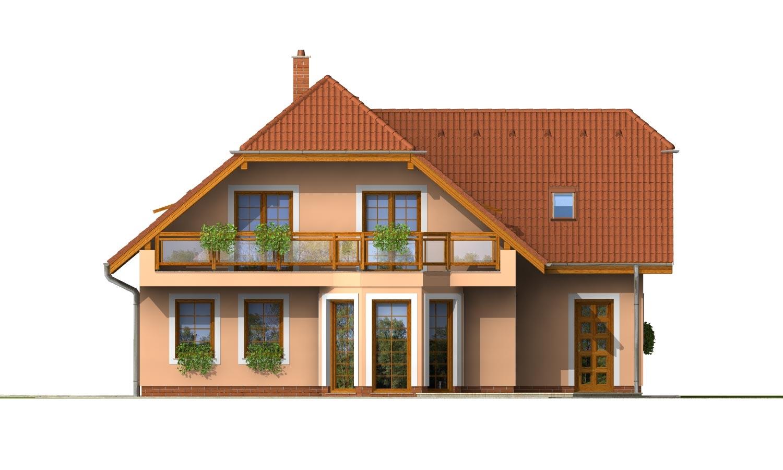 Pohľad 3. - Veľký exkluzívny podkrovný rodinný dom s izbami na prízemí.