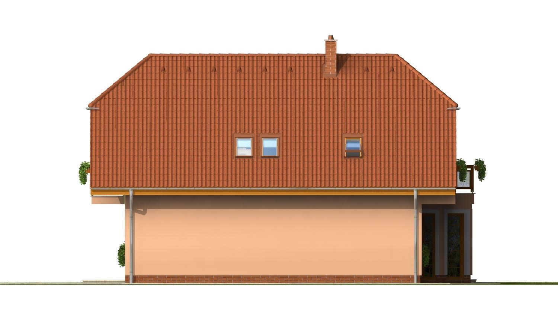 Pohľad 4. - Veľký exkluzívny podkrovný rodinný dom s izbami na prízemí.
