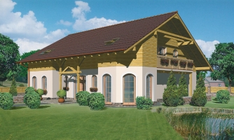 Exkluzívny dom s dvomi izbami na prízemí a obytným podkrovím