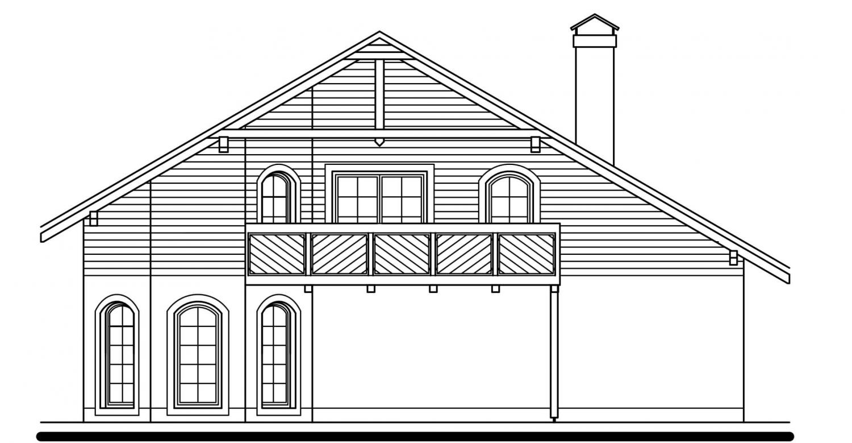 Pohľad 4. - Exkluzívny dom s dvomi izbami na prízemí a obytným podkrovím.