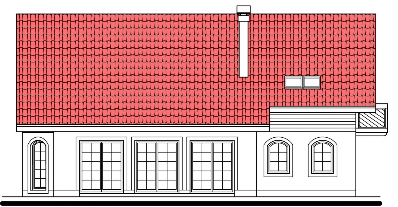 Pohľad 3. - Exkluzívny dom s dvomi izbami na prízemí a obytným podkrovím.