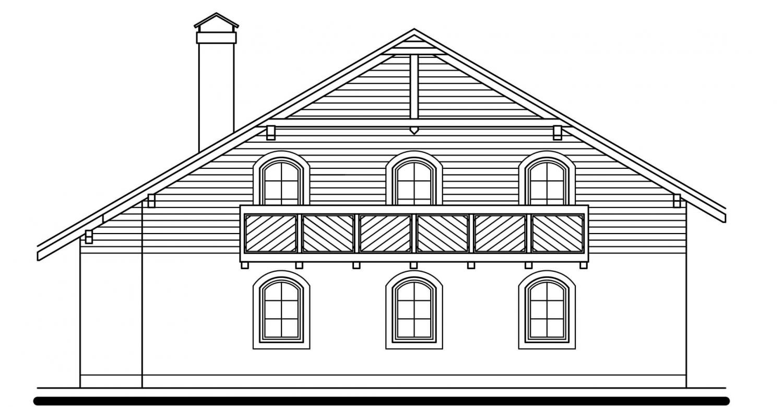Pohľad 2. - Exkluzívny dom s dvomi izbami na prízemí a obytným podkrovím.