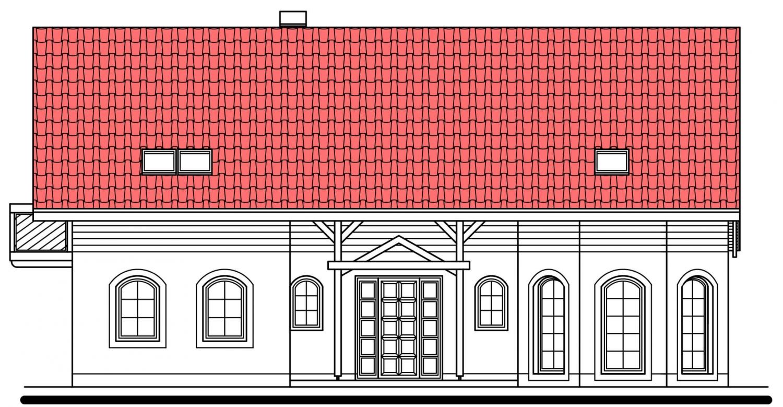 Pohľad 1. - Exkluzívny dom s dvomi izbami na prízemí a obytným podkrovím.