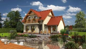 Rodinný dom vhodný do radovej zástavby alebo ako dvojdom.