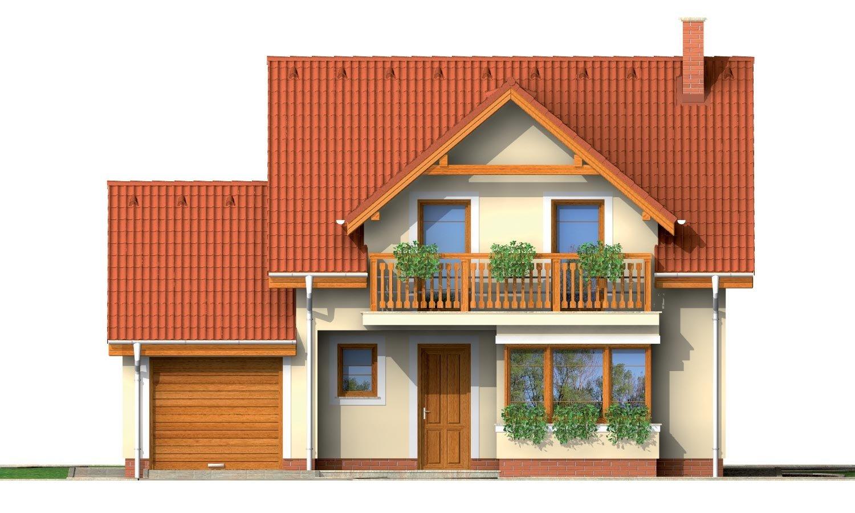 Pohľad 1. - Rodinný dom vhodný do radovej zástavby alebo ako dvojdom.