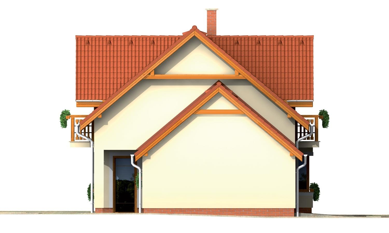 Pohľad 2. - Rodinný dom vhodný do radovej zástavby alebo ako dvojdom.