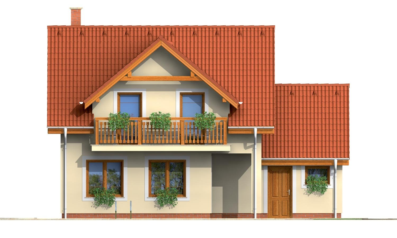 Pohľad 3. - Rodinný dom vhodný do radovej zástavby alebo ako dvojdom.