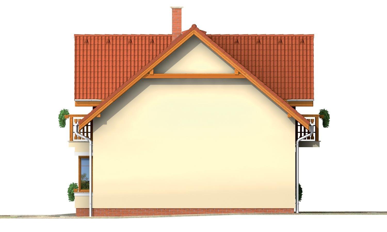 Pohľad 4. - Rodinný dom vhodný do radovej zástavby alebo ako dvojdom.