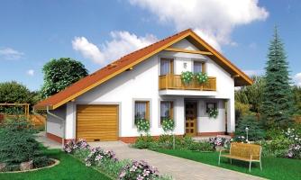 Podkrovný rodinný rodinný dom s garážou