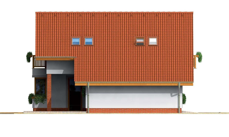 Pohľad 2. - Podkrovný rodinný dom s garážou.