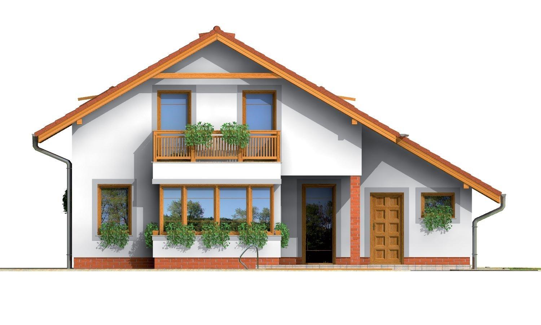 Pohľad 3. - Podkrovný rodinný dom s garážou.