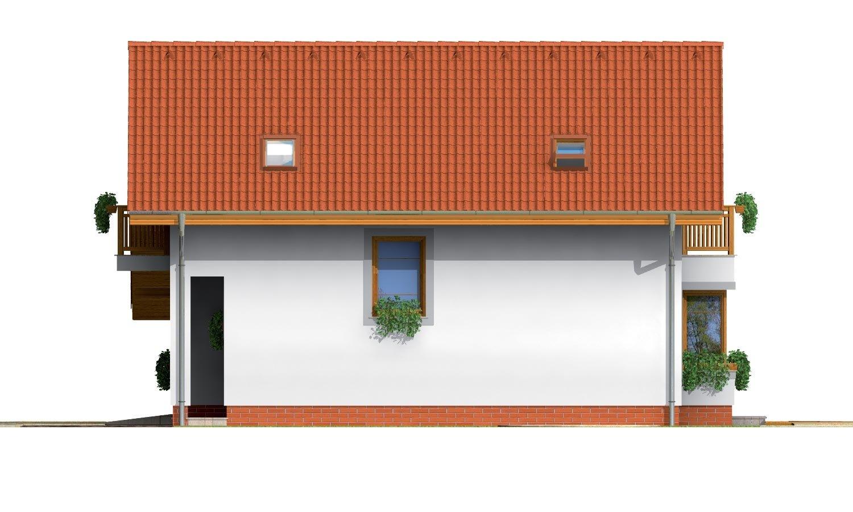 Pohľad 4. - Podkrovný rodinný dom s garážou.