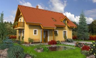 Rodinný dom vhodný na úzky pozemok.