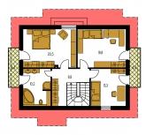 Pôdorys poschodia - KLASSIK 158