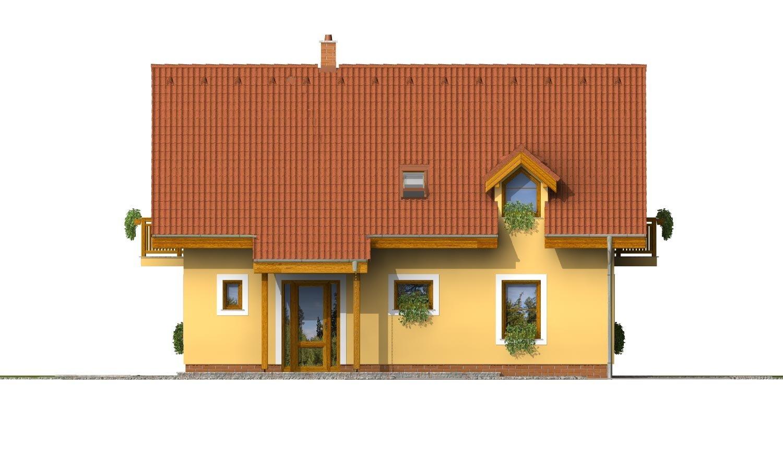 Pohľad 1. - Rodinný dom vhodný na úzky pozemok.