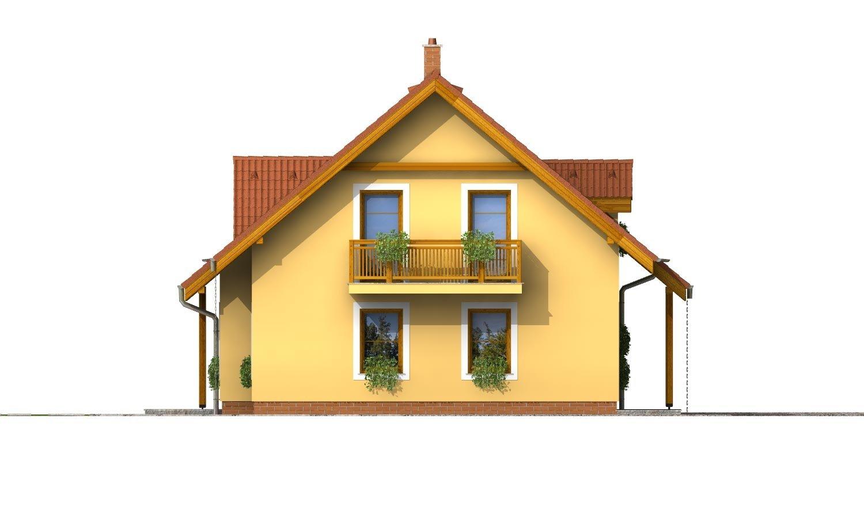 Pohľad 2. - Rodinný dom vhodný na úzky pozemok.