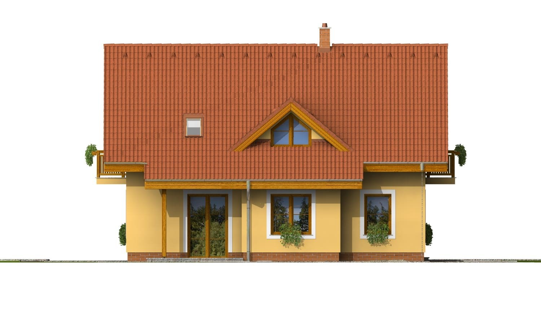 Pohľad 3. - Rodinný dom vhodný na úzky pozemok.